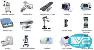 لیست تمام تجهیزات و لوازم پزشکی