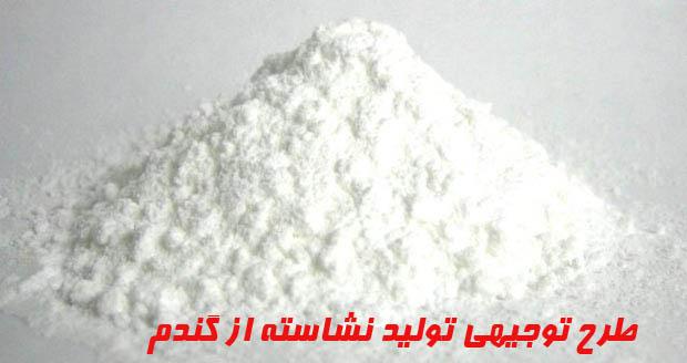 طرح توجيهي توليد نشاسته از گندم باظرفيت ۶۰۰ تن در سال