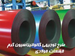 طرح توجيهي گالوانيزاسيون گرم قطعات فولادي