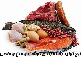طرح تولید بسته بندي گوشت و مرغ و ماهی