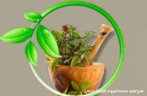طرح تولید عصاره گیري از گیاهان داروئی