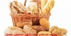 طرح تولید نان فانتزي ( باگت ، برتشن ، ساندویچی ، همبرگر ، شیرمال ، بی نمک، پیراشکی )