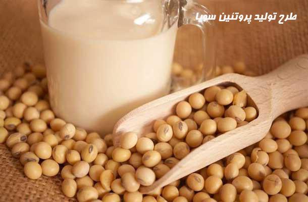 طرح تولید پروتئین سویا