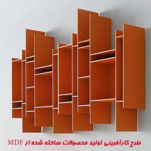 طرح کارآفرینی توليد محصولات ساخته شده از MDF
