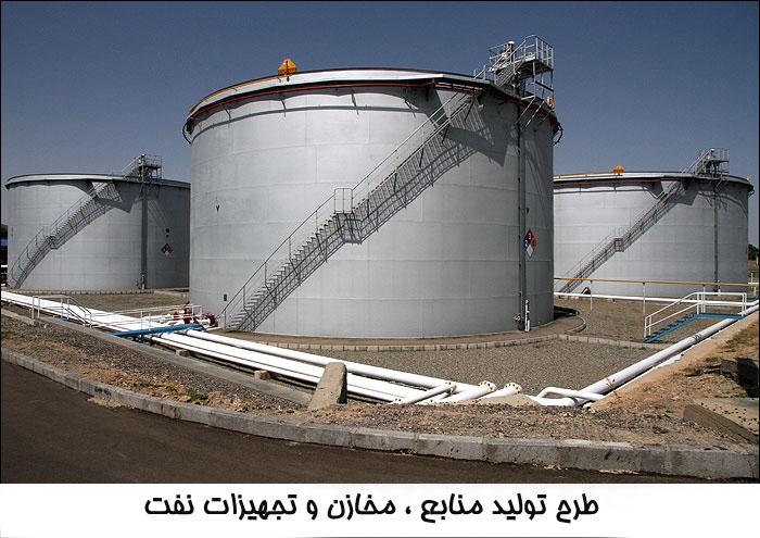 طرح تولید منابع ، مخازن و تجهیزات نفت