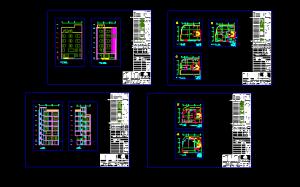 نقشه اتوکد ساختمان ۶ طبقه دولتی