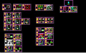 نقشه اتوکد ساختمان ۸۵ متری بم
