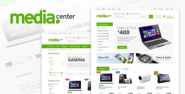 قالب وردپرس حرفه ای فروشگاهی MediaCenter